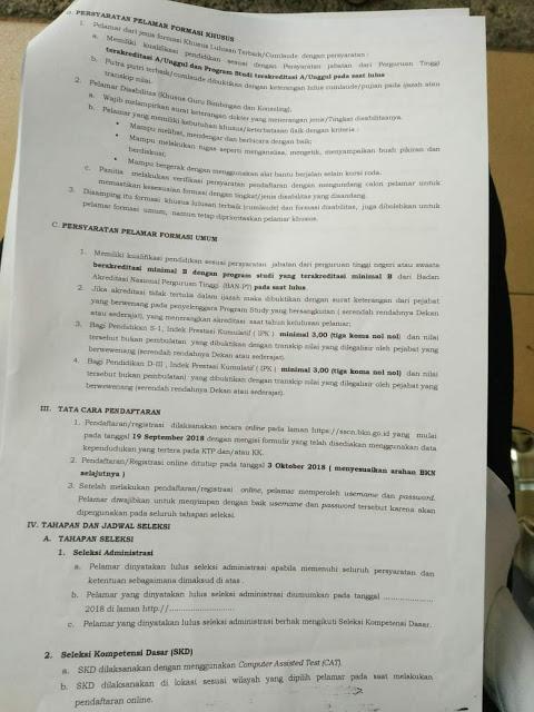 Formasi CPNS Kota Bukittinggi Tahun 2018 Terbaru 2
